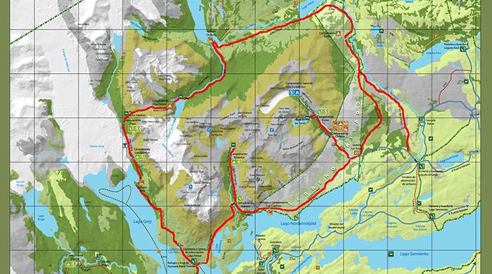 Circuito W Torres Del Paine Mapa : Circuito o de torres del paine todo lo que necesitas